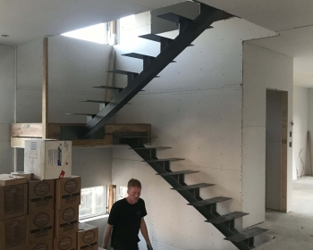 Single Stringer Stair, Boulder CO, 2018 (Working for Morgan Briskey, Elemental Design, http://briskey.com/)