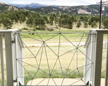 Custom Porch Gate, Personal Residence, Florissant, CO 2020
