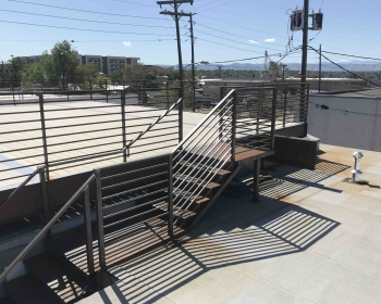 Custom Stairs and Roof Deck, Space Annex Gallery, Denver, 2019