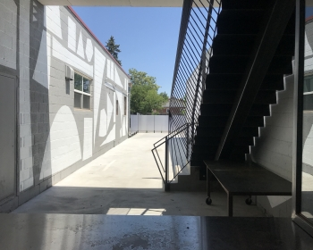 Custom Stairs with Sculptural Guardrail, Space Annex Gallery, Denver, 2019