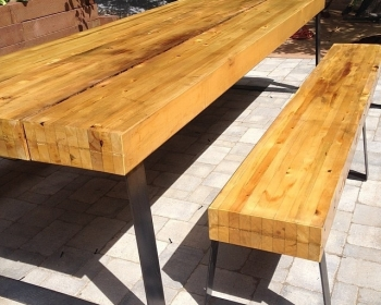 Glulam Table and Bench Set, Denver, 2015