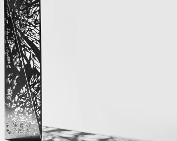 """Canopy Pattern Mini-Monolith"", Steel, 48""x18""x18"", 2018, Photo Credit: Caleb Santiago Alvarado"