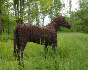 """No Name, Steel, 9'x11'x30"""", Private Collection, Wilmington VT, 2009"""