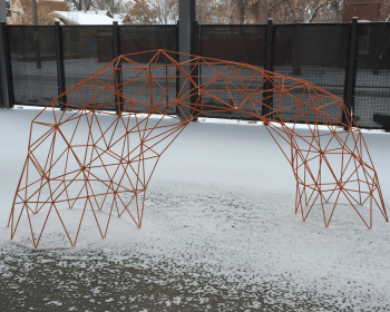 Orange Arch, Powder Coated Steel, 10'x5'x3', Denver CO, 2016