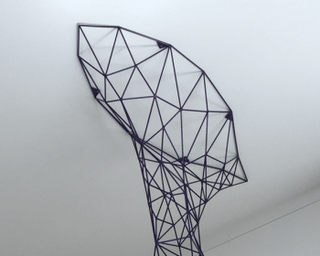 Whale Hung Arch, Powder Coated Steel, 16'x8'x4', Denver CO, 2016