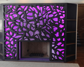 Residential Fire Place 2, Light and Steel, 12'x8'x3', Bloomfield Hills MI, 2014