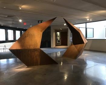 """Point Gate"", Cor-ten Steel, 18.5'x19.5'x4', Arvada Center, CO 2019"