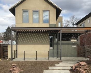 Pergola with Railing, Private Residence, Denver CO, 2018 (Designed by Connor Howley)
