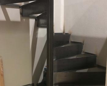 Built in Spiral Stair, Golden CO, 2018 (Working for Morgan Briskey, Elemental Design, http://briskey.com/)