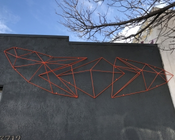 "Home Store Front, Painted Steel, 10'x4'x15"", Denver CO, 2017"