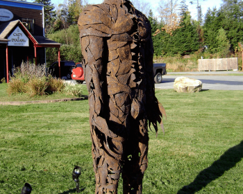"Leafman, Steel, 8'x30""x18"", Private Collection, Wilmington VT, 2008"