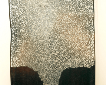 """Infinite Pattern Panel Number One, Steel and Ink, 4'x8'x6"""", Private Collection, Bloomfield Hills MI, 2013"""