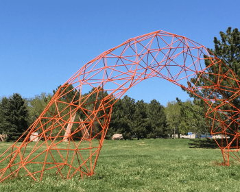 Quarter Mile Arch, Painted Steel, 45'x25'x8', Arvada CO, 2017